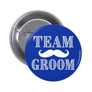 Botón de los padrinos de boda del novio del equipo