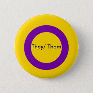 Botón de los pronombres de Intersex ellos ellos