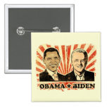 Botón de los retratos de Obama Biden
