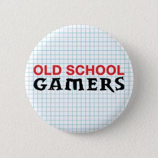 Botón de los videojugadores de la escuela vieja