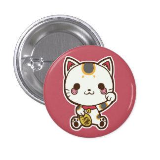 Botón de Maneki Neko (gato afortunado) Pin