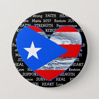 Botón de Maria 2017 del huracán de la bandera de