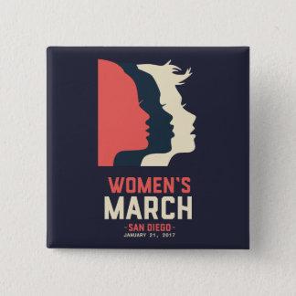 Botón de marzo de las mujeres de San Diego