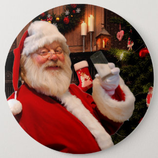 Botón de Papá Noel