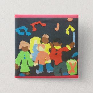Botón de papel del collage de los estudiantes de