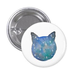 Botón de Pinback del gato de la galaxia