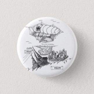 Botón de Pinback del mapa de la furia de la sirena