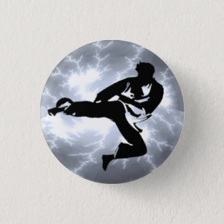 Botón de plata del pinback del hombre del