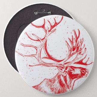 Botón de Reindeer Toile de Jouy Colossal