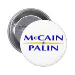 Botón de Sarah Palin John McCain Pins