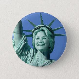 Botón de señora Liberty Hillary Clinton