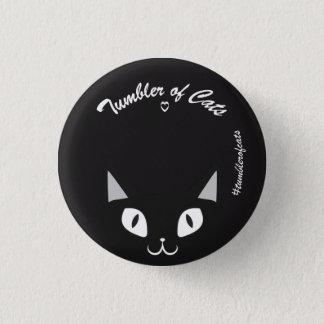 Botón de TumblerofCats - negro en TumblerCat negro