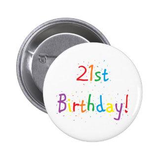 """botón del """"21ro cumpleaños"""""""