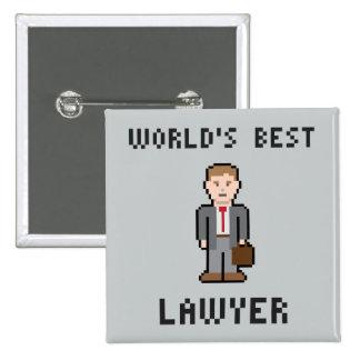 Botón del abogado del mundo del pixel el mejor