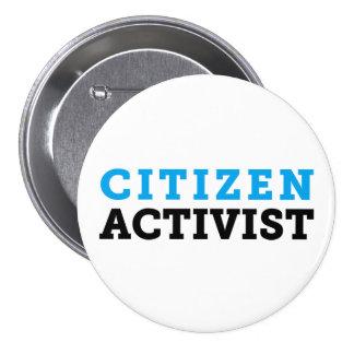 Botón del activista del ciudadano