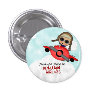 Botón del aeroplano del cumpleaños pin