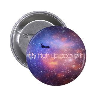 Botón del aeroplano del espacio pins