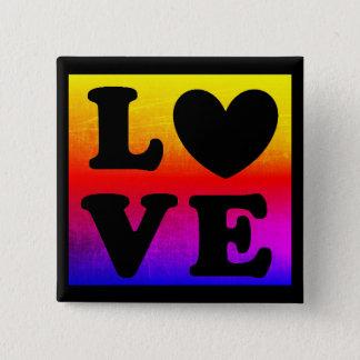 Botón del amor del corazón del arco iris LGBT
