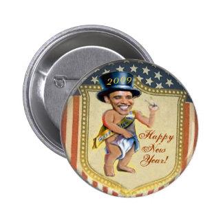 Botón del Año Nuevo del bebé de Obama Pin