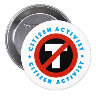 Botón del Anti-Triunfo del activista del ciudadano