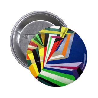Botón del arte abstracto pin