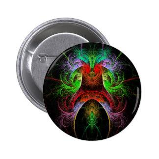 Botón del arte abstracto de Carnaval (redondo)