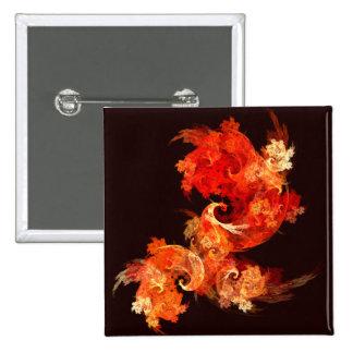 Botón del arte abstracto de Firebirds del baile (c