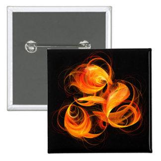 Botón del arte abstracto de la bola de fuego (cuad