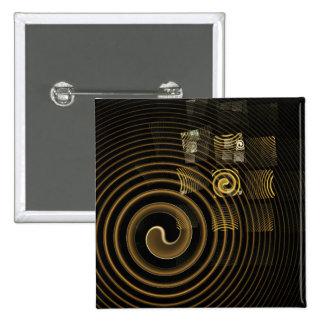 Botón del arte abstracto de la hipnosis (cuadrado)