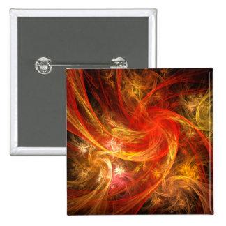 Botón del arte abstracto de Nova de la tormenta de