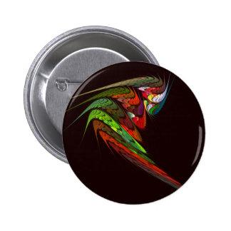 Botón del arte abstracto del camaleón (redondo) pin