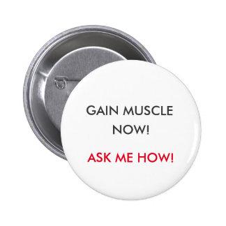 Botón del aumento del músculo