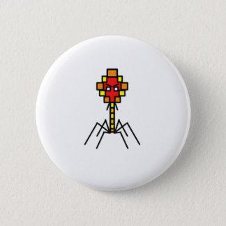 Botón del bacteriófago de Pixelated