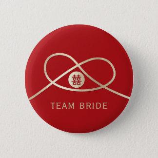 Botón del banquete de boda de la felicidad del