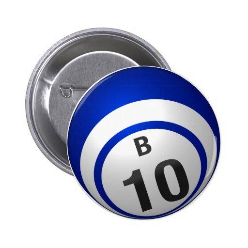 Botón del bingo de B 10 Pin