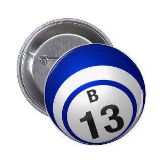 Botón del bingo de B 13