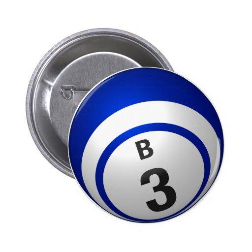Botón del bingo de B 3 Pins