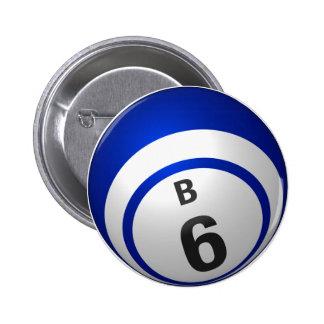 Botón del bingo de B 6