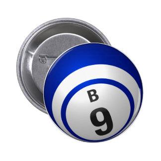 Botón del bingo de B 9