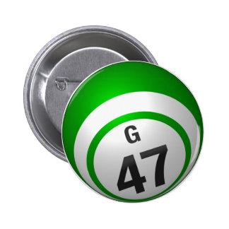 Botón del bingo de G 47 Pins