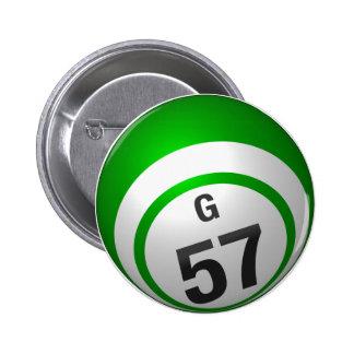 Botón del bingo de G 57 Pins