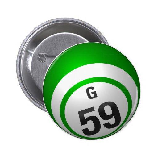 Botón del bingo de G 59 Pins