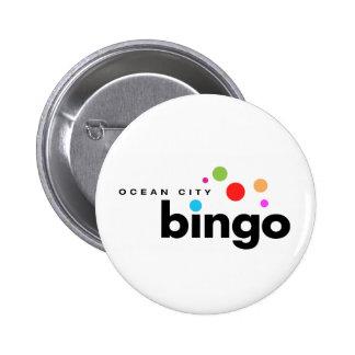 Botón del bingo de la ciudad del océano pin