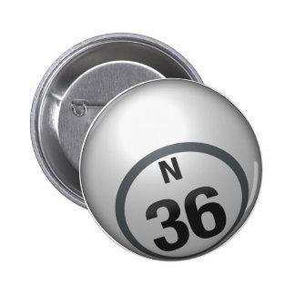 Botón del bingo de N 36 Pin