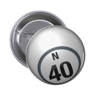 Botón del bingo de N 40 Pins