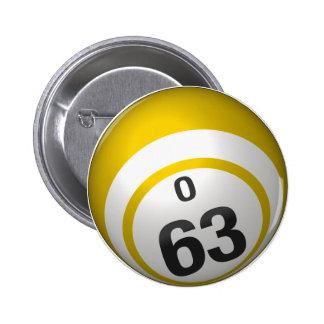 Botón del bingo de O 63 Pin