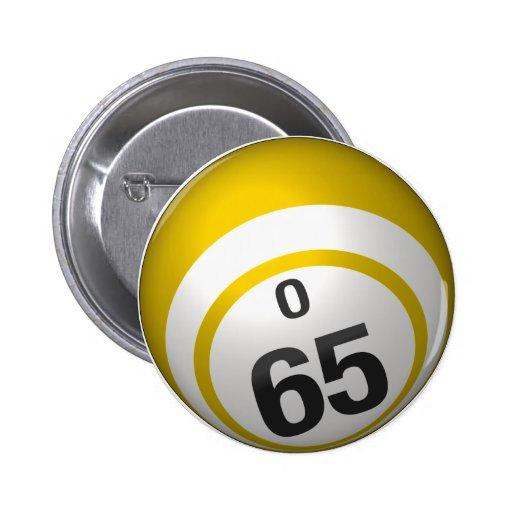 Botón del bingo de O 65 Pin