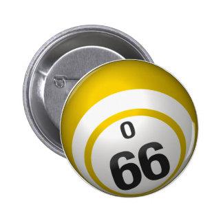 Botón del bingo de O 66 Pins