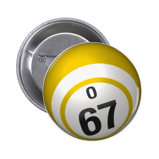 Botón del bingo de O 67 Pins