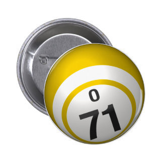 Botón del bingo de O 71 Pins